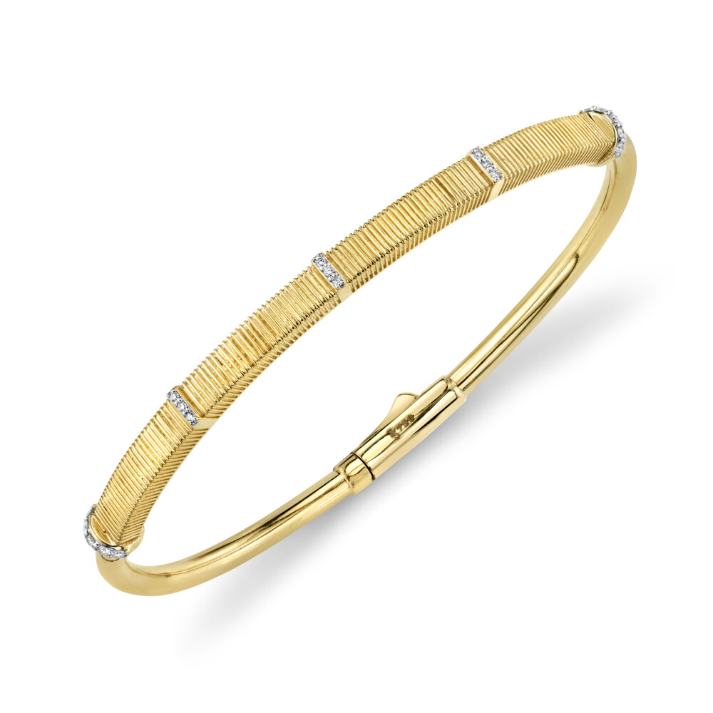 Image 2 for Strie And Diamond Bangle