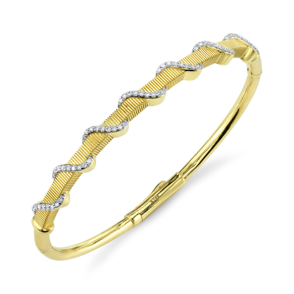 Image 2 for Diamond Wrapped Strie Bangle