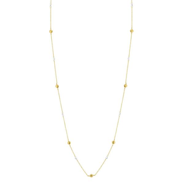 Closeup photo of Long Chain With Rose Cut Diamonds