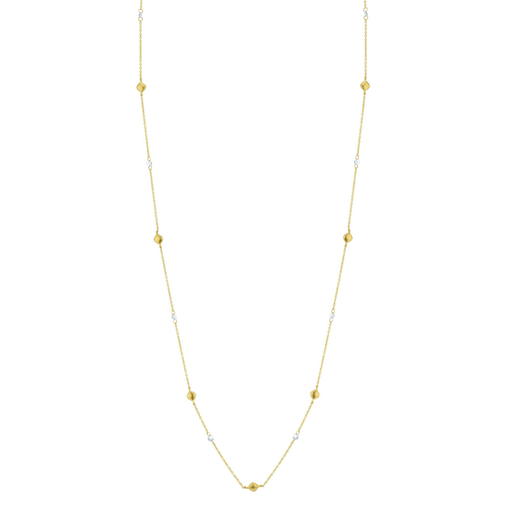 Image 2 for Long Chain With Rose Cut Diamonds