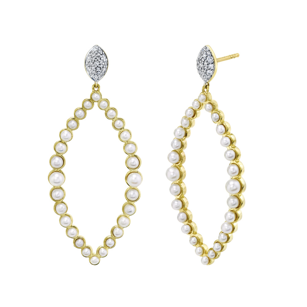 Image 2 for Rosecut Diamond Large Marquise Drop Earrings