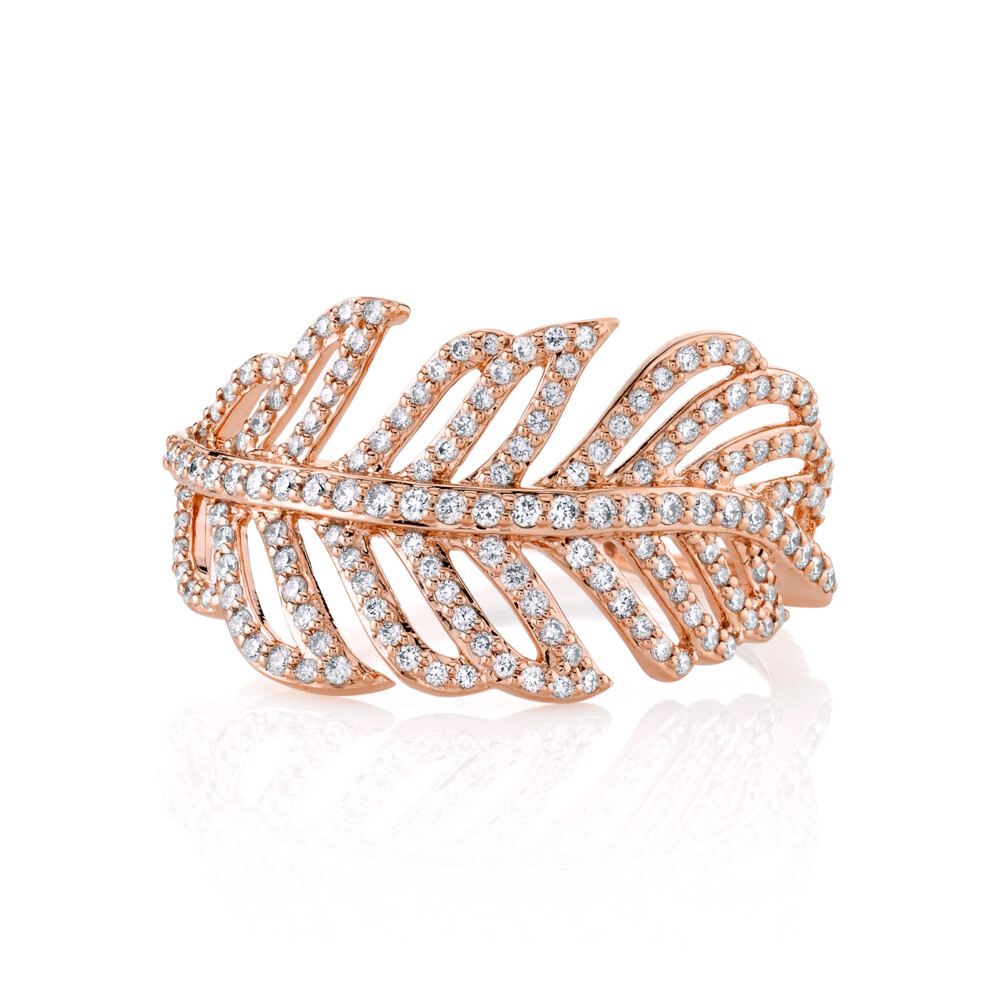 PAVE DIAMOND FEATHER WRAP RING
