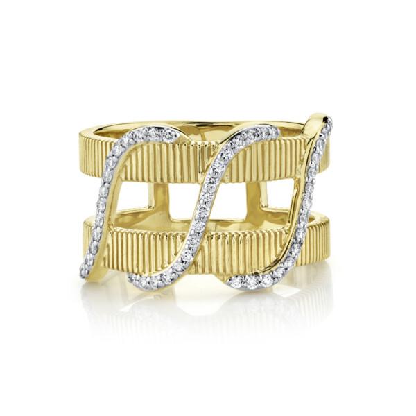 Closeup photo of Diamond Wrap Double Row Ring