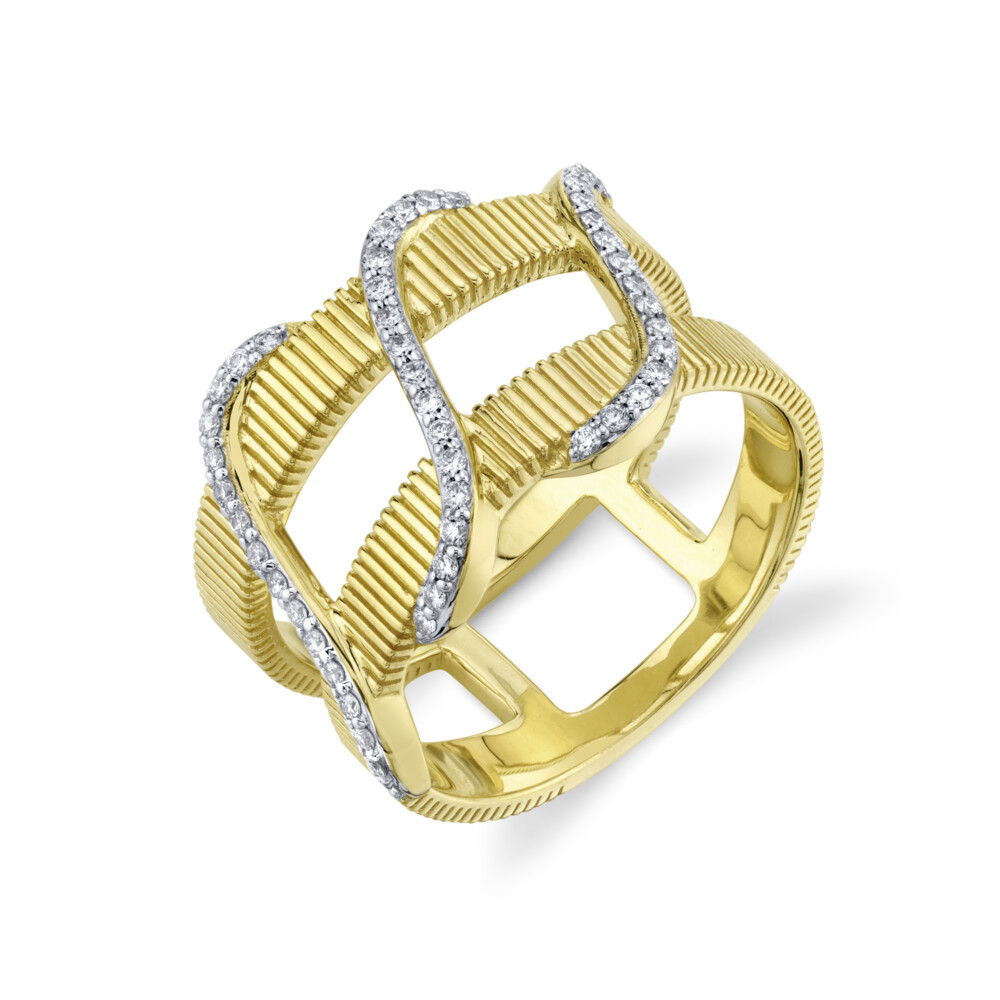 Image 2 for Diamond Wrap Double Row Ring