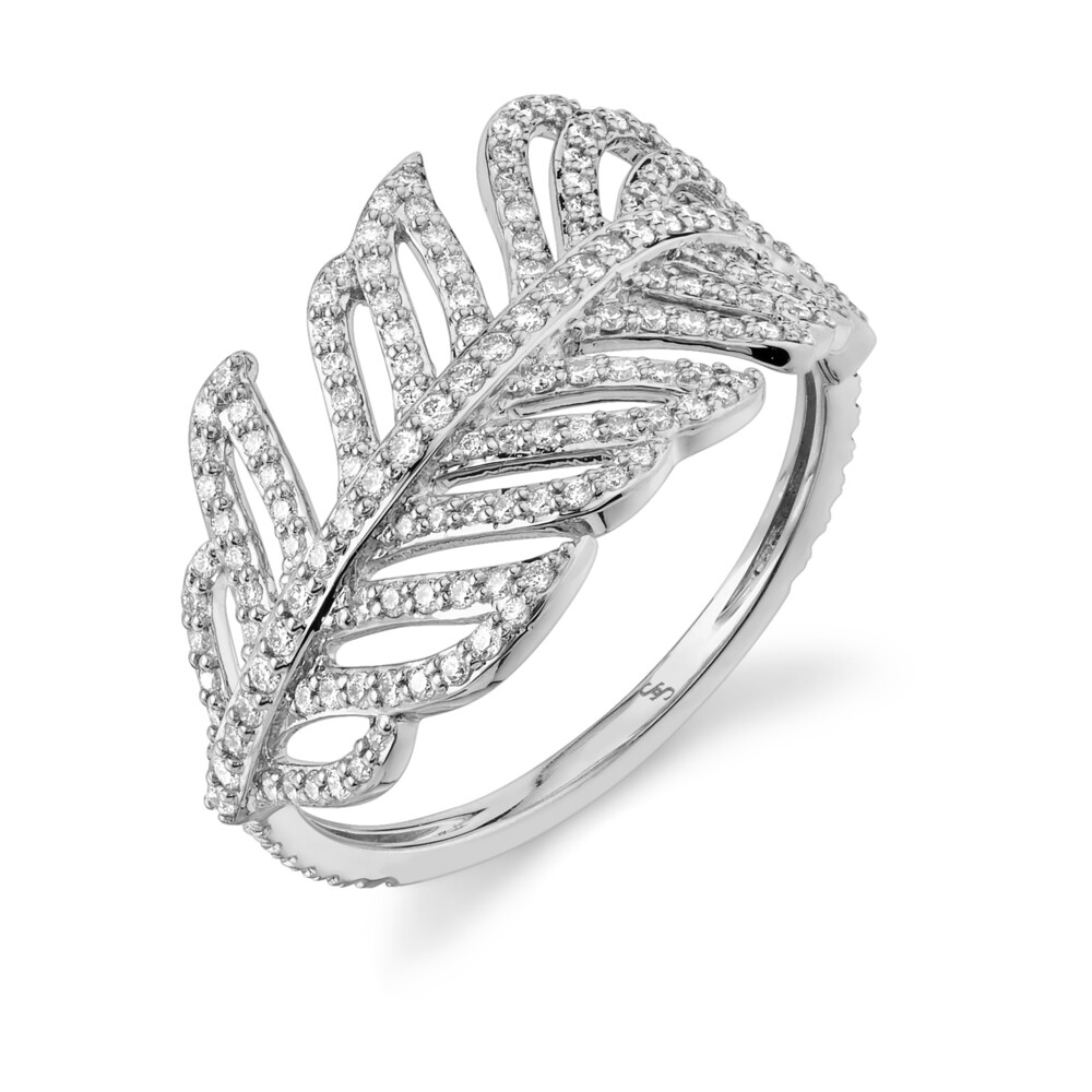 Image 2 for PAVE DIAMOND FEATHER WRAP RING