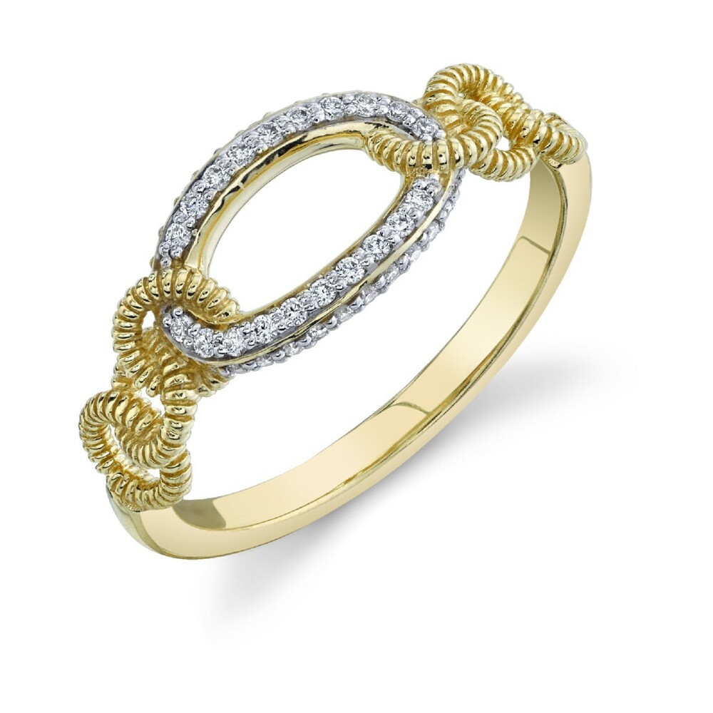 Image 2 for Pave Diamond Link Ring
