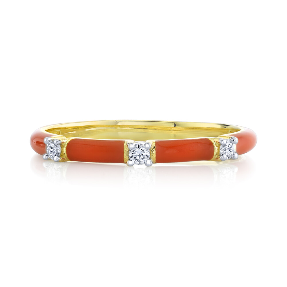 Image 2 for SLOANE STREET ENAMEL STACKERS WITH DIAMOND DETAILS