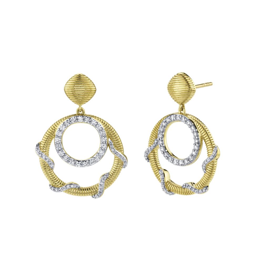 Diamond Open Wrap Drop Earrings