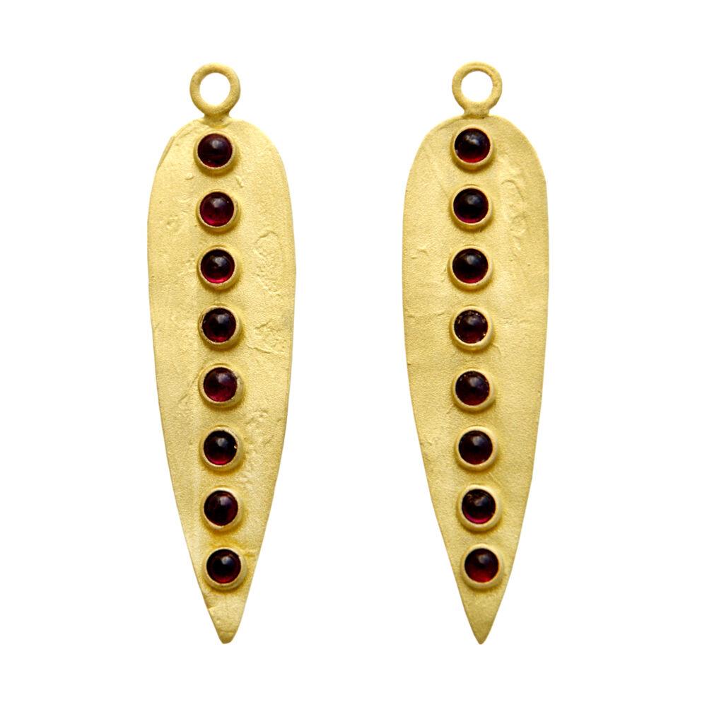 Primitive - Garnet Dinka Earrings