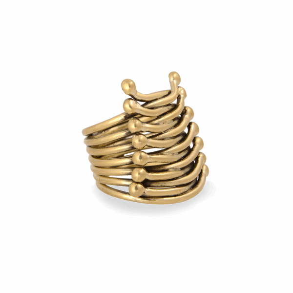 Closeup photo of 18K Corset Ring
