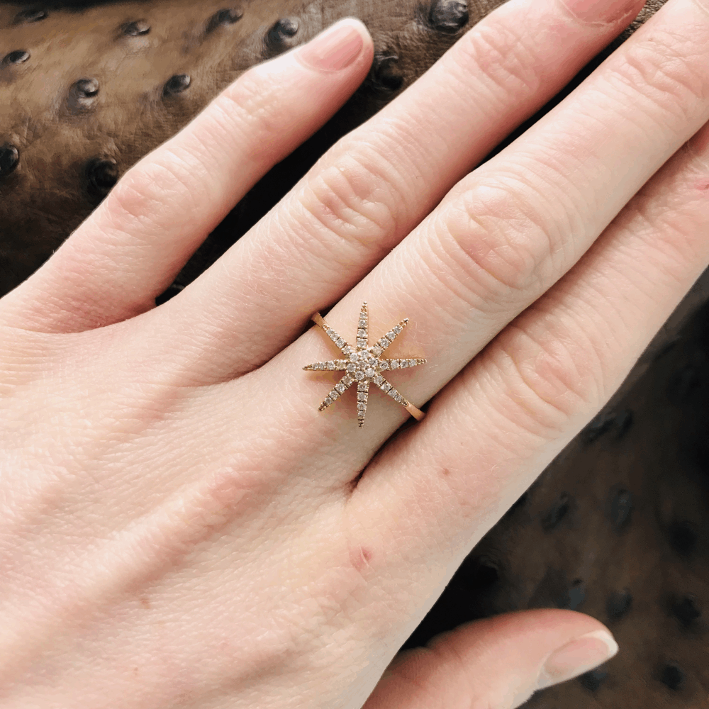 Image 2 for 14k Diamond Star ring