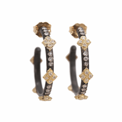 Closeup photo of Crivelli Hoop Diamond Earrings - Small