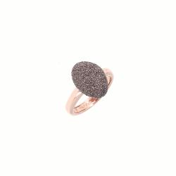 Closeup photo of Rose Gold Antelope Polvere Ring
