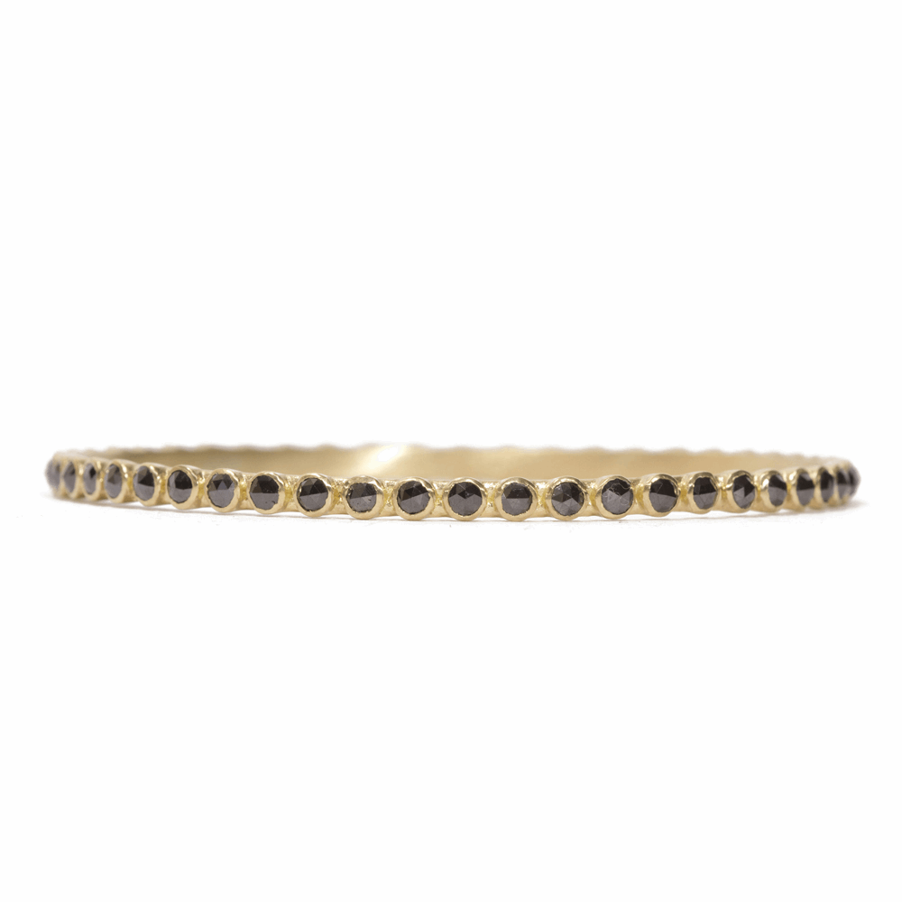 Black Diamond Eternity Bangle