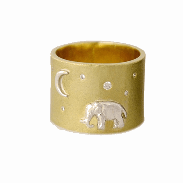 Closeup photo of Gold Tsavo Nights Ring