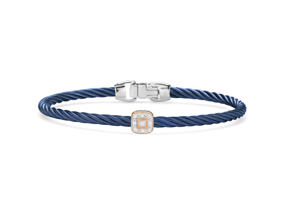 Blueberry Single Squared Station Bangle