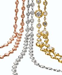 Closeup photo of Bezel Set Diamond By The Yard White Gold
