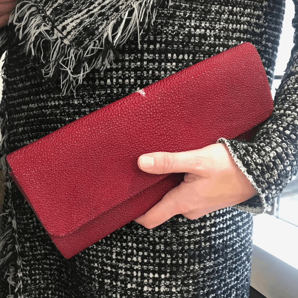Image 2 for Red Stingray Evening Clutch