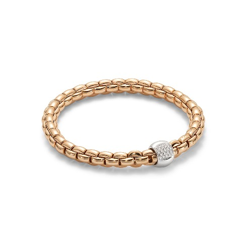 Closeup photo of Eka Flex'it 18k Rose Gold Diamond Bracelet  701B BBR