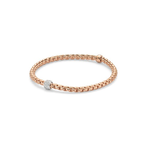 Eka Tiny Flex'it 18k Gold Bracelet - 733B PAVEM
