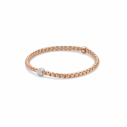 Closeup photo of Eka Tiny Flex'it 18k Gold Bracelet - 733B PAVEM