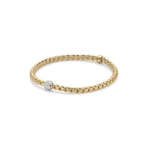 Image 2 for Eka Tiny Flex'it 18k Gold Tiny Pave Bracelet - 733B PAVEM