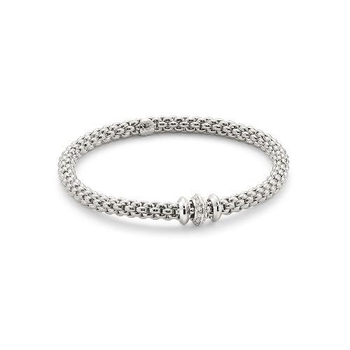 Flex'it White Gold Bracelet With Diamonds - 653B BBRM