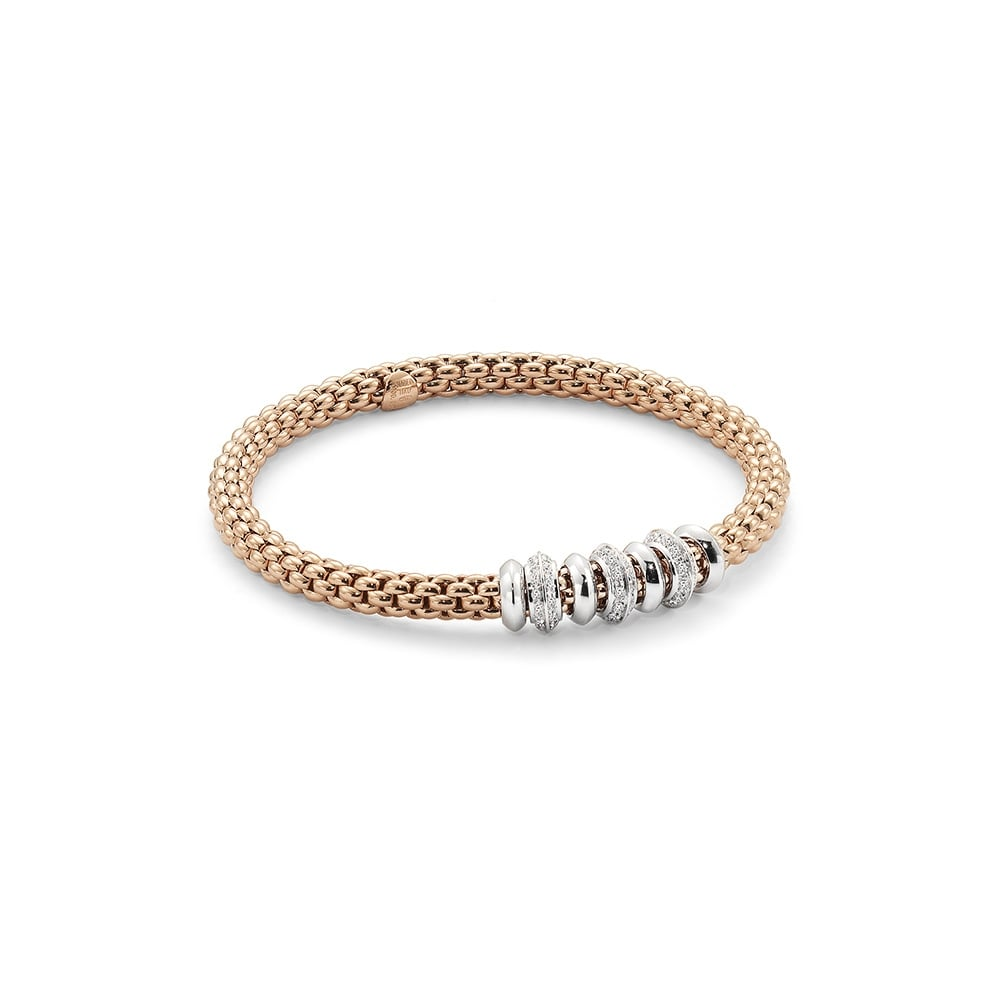 Image 2 for Solo Flex'it 18k Gold Bracelet With Diamonds - 657B BBRM