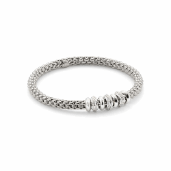 Closeup photo of Stretch Fope Bracelet With Diamonds