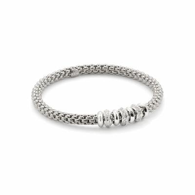 Closeup photo of Solo Flex'it 18k Gold Bracelet With Diamonds - 657B BBRM