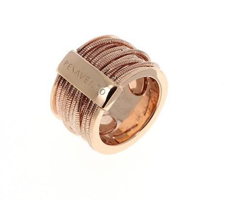 Closeup photo of DNA Spring Ring - Rose Gold