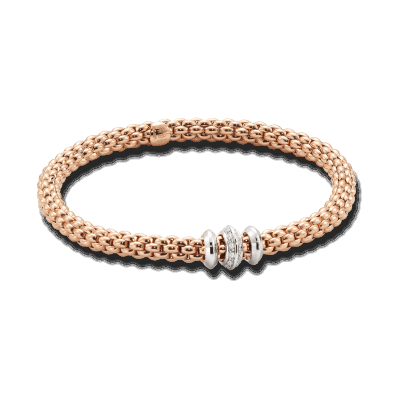 Closeup photo of FLEX'IT Solo 18k Gold Bracelet