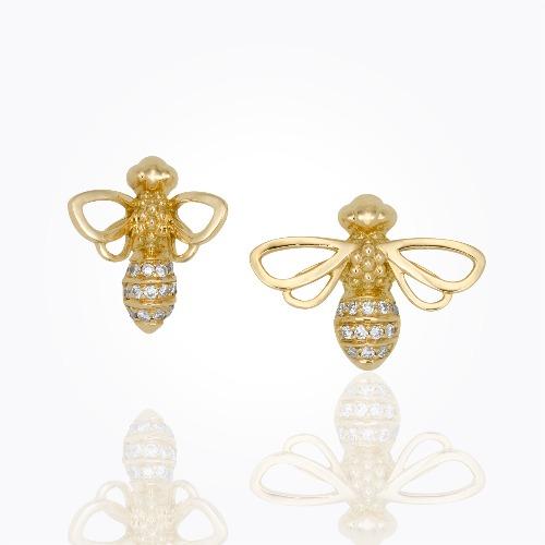 18k Bee Studs