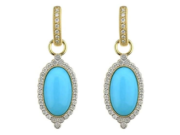 PROVENCE OVAL STONE PAVE TRIO EARRING CHARMS