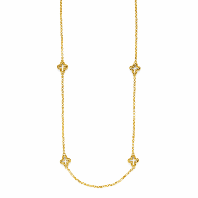 Closeup photo of Florentine Gold Station Necklace