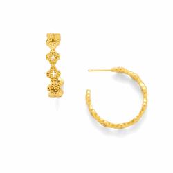 Closeup photo of Florentine Gold Hoop Earrings