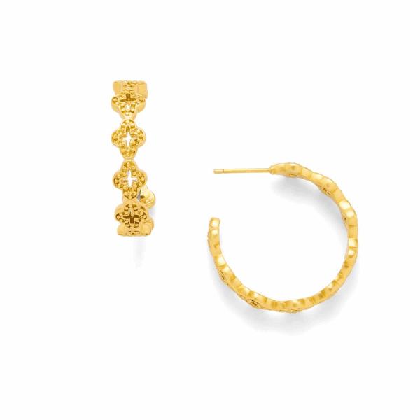 Closeup photo of Florentine Hoop Earrings