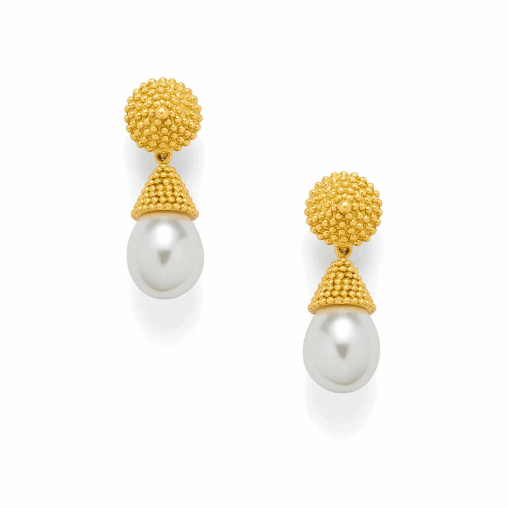 Luxor Earring - Pearl Drop