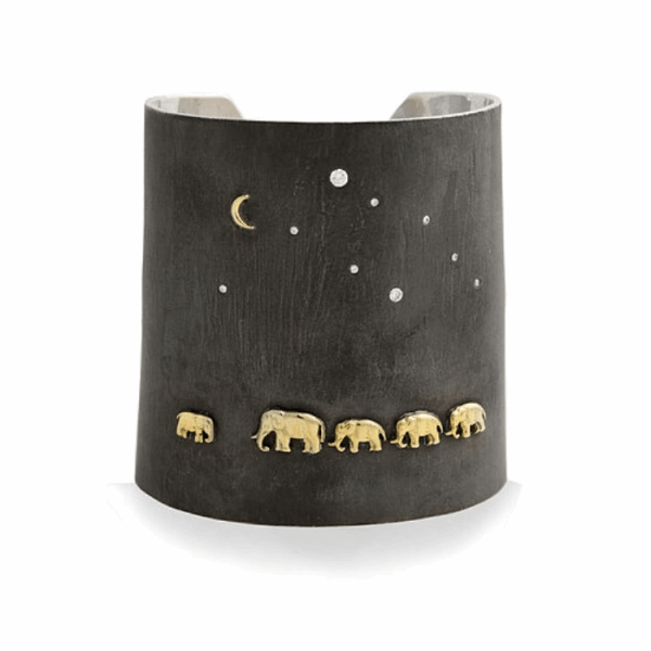 Closeup photo of Silver Tsavo Nights Cuff