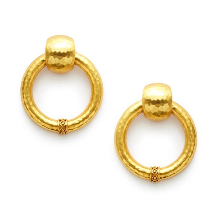 Catalina Large Doorknocker Earring
