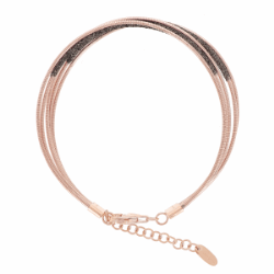Closeup photo of DNA Rose bracelet with Brown Polvere
