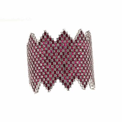Ruby Emerald Cut Diamond Bracelet