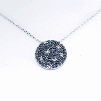 18k Black Diamond Necklace