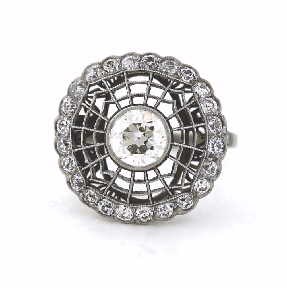 Estate Edwardian Web Diamond Ring