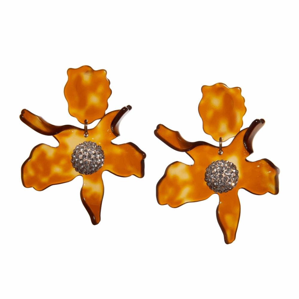 Crystal Lily Earrings