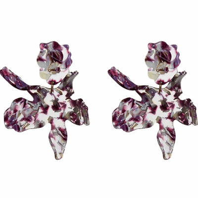 Closeup photo of Paper Lily Earrings
