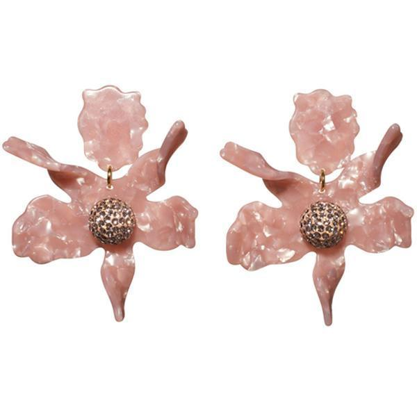 Closeup photo of Crystal Lily Earring