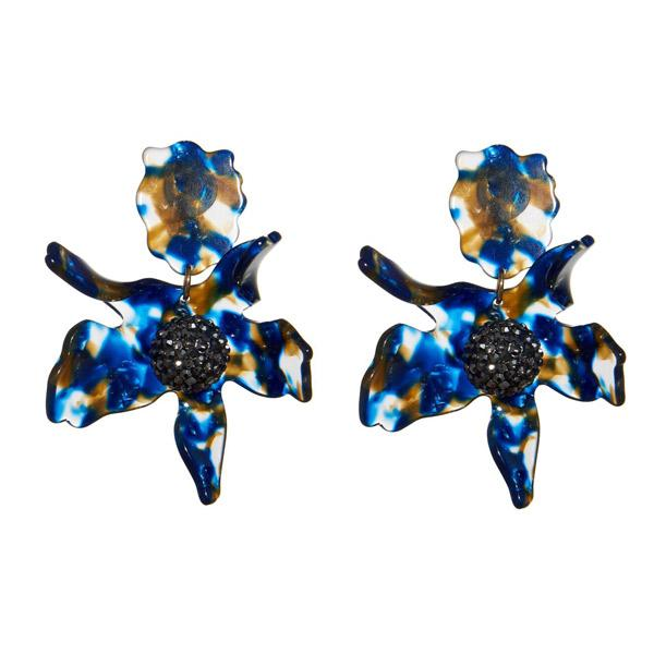 Closeup photo of Crystal Lily Earring - Night Streak