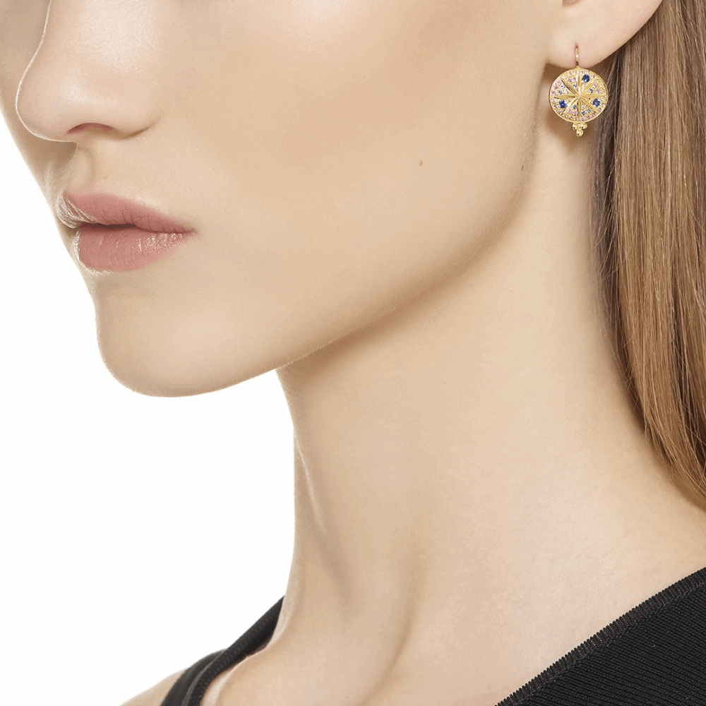 Image 2 for 18k Yellow Gold Pave Sorcerer Earring