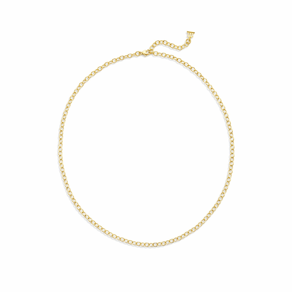 """18k Extra Small Oval Chain - 24"""""""